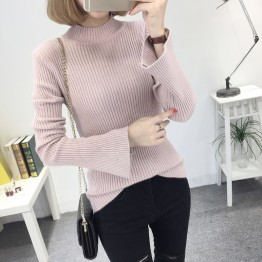 8083 semi-high collar speaker sleeves long sleeve sweater