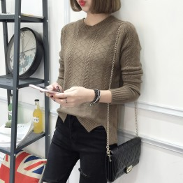 8103 women autumn and winter Korean fashion long-sleeved short bottoming sweater