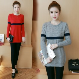 8047 large size women's ultra-elastic cotton sweater