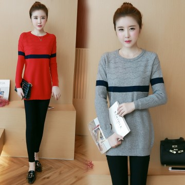 8047 # large size women's autumn and winter clothing sweater ultra-elastic cotton sweater