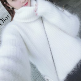 9338 Korean students autumn and winter thick mink velvet sweater