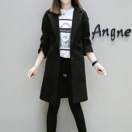 801European fashion long woolen coat