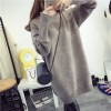 Autumn and winter new high-necked sweater jacket long loose thick sweater 9582#