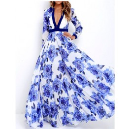 862 hot sale fashion print dress