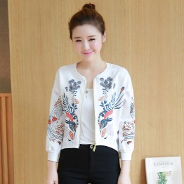 3695 Korean loose baseball cardigan short jacket