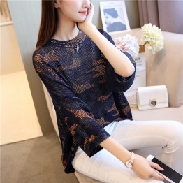 A05 loose camouflage bats knitting sweater
