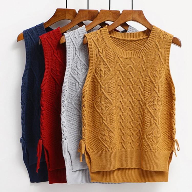 2017 Korean version of the new women s vest straps with short sweater vest  knitted vest 594e02118