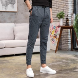 Imitation flax men's casual pants four seasons thin men's Slim pants pants pants male casual pants men's long pants