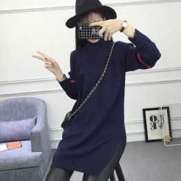Autumn and winter new women in the long striped suit sweater jacket sweater clothes winter clothes 9581 #
