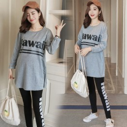 8806 maternity autumn prints letter t-shirt with leggings