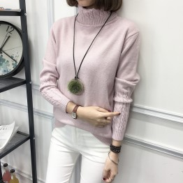 8091 autumn and winter high-necked sweater