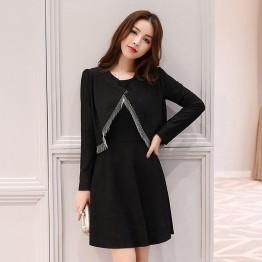 2616 ladies little coat with sleeveless dress