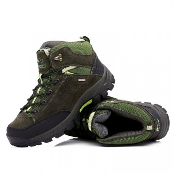 123098 winter warm thickening matte leather men's hiking shoes