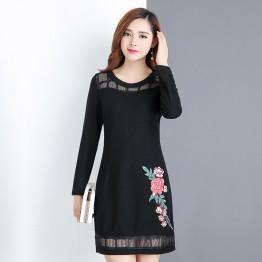 6071 OL temperament slim long sleeve dress