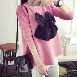 6838 Large size fat sister long sleeve t-shirt doll tops