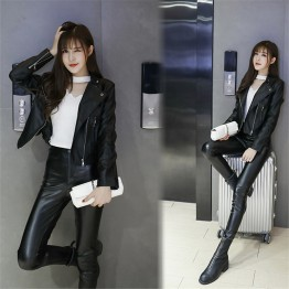 0608 motorcycle PU leather handsome jacket
