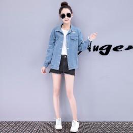 7536 women back brand fashion denim jacket