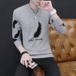 M3038 autumn and winter slim round neck long sleeve shirt