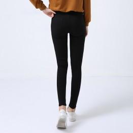 015 black leggings slim pencil jeans