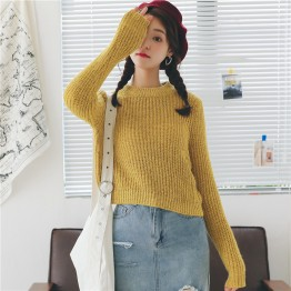 826 small high collar soft and comfortable thick knitted sweater