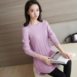6015 fashionable breastfeeding collar knitted sweater