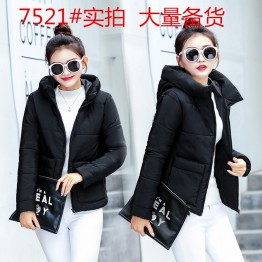 7521 short cotton jacket with cap