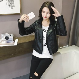 9947B handsome personality leather jacket