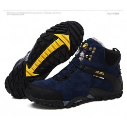 124095 Matte Thicker Cotton Wear Resistant Leather Mountaineer Shoes