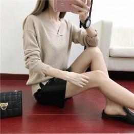 852 V collar loose sweater