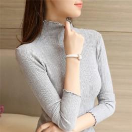8021 high-necked bottom slim sweater