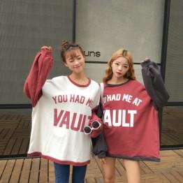 3183 Japanese style printing letters sweatshirt