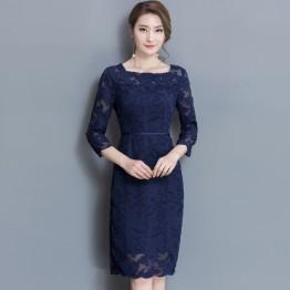 6891 sleeveless ol elegant lace dress