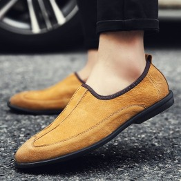 2017 Matte cow leather casual men's shoes