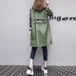 8062 European fashion loose long baseball casual jacket