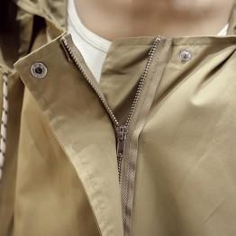 5290 Korean fashion loose windbreaker coat with cap