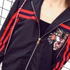 909 embroidery tiger head windscreen couple jacket