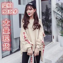 9032 Harajuku oversize loose long sleeve trendy sweatshirt
