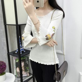 8671 ice silk seven-point sleeve T-shirt