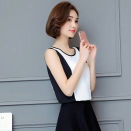 715 contract color high-end chiffon vest