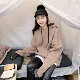 232 fashion hooded loose sweater