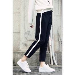 1695 loose white side ninth harem casual pants