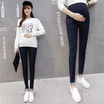 129 high-rise pregnant women pencil jeans