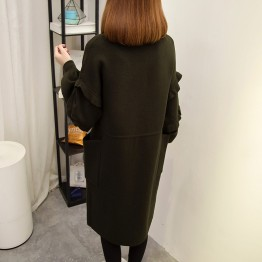 6009 agaric edge drawstring waist long cardigan jacket