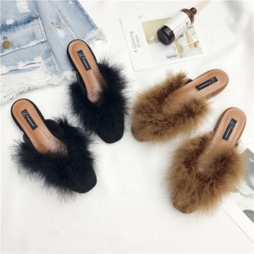 99-2 fashion fluffy flattie