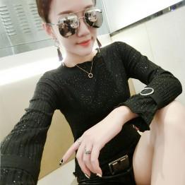 8097 agaric edge knitting slim T-shirt