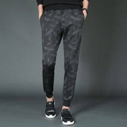 888 feather pattern men's casual harem pants