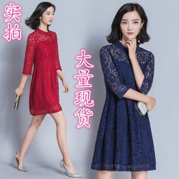 6899 elegant loose lace dress