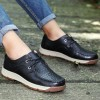 018100 breathable solid color round head casual shoes