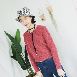A165 loose round neck wool bottoming sweater
