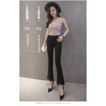 8631 micro-speaker tassel high waist pants